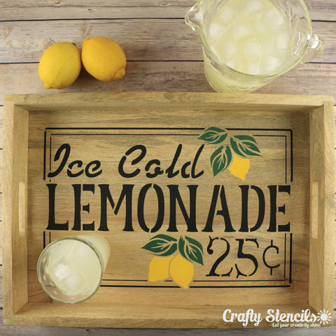 Ice Cold Lemonade Sign Stencil Craft Stencil
