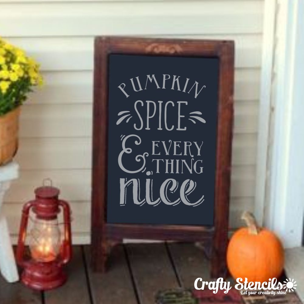Pumpkin & Spice Craft Stencil
