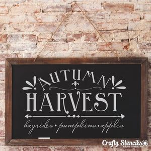 Autumn Harvest Craft Stencil By Crafty Stencils