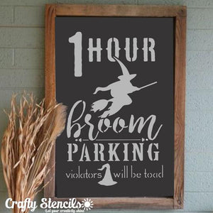 Broom Parking Craft Stencil