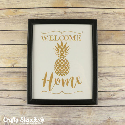 Welcome Home Craft Stencil