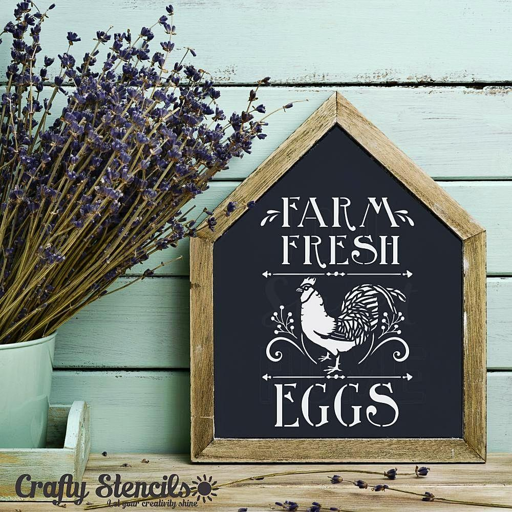 Farm Fresh Eggs Craft Stencil by Crafty Stencils