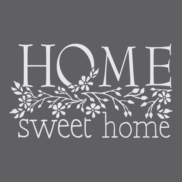 Home Sweet Home Floral Craft Stencil