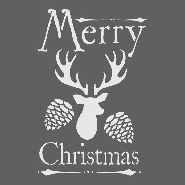 Woodland Christmas Craft Stencil