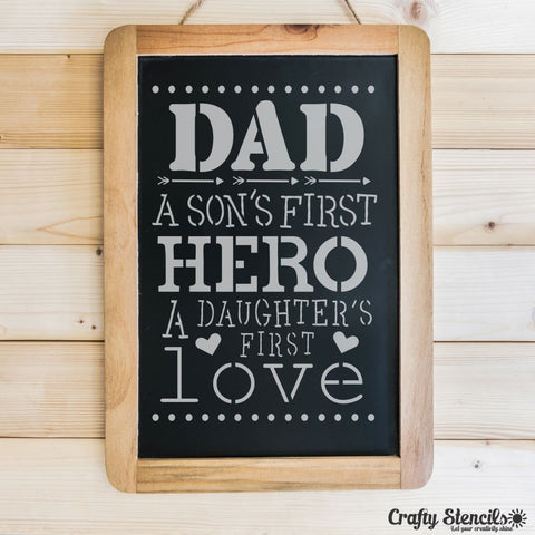 First Hero, First Love Craft Stencil by Crafty Stencils
