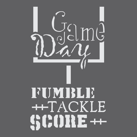 Game Day Craft Stencil by Crafty Stencils