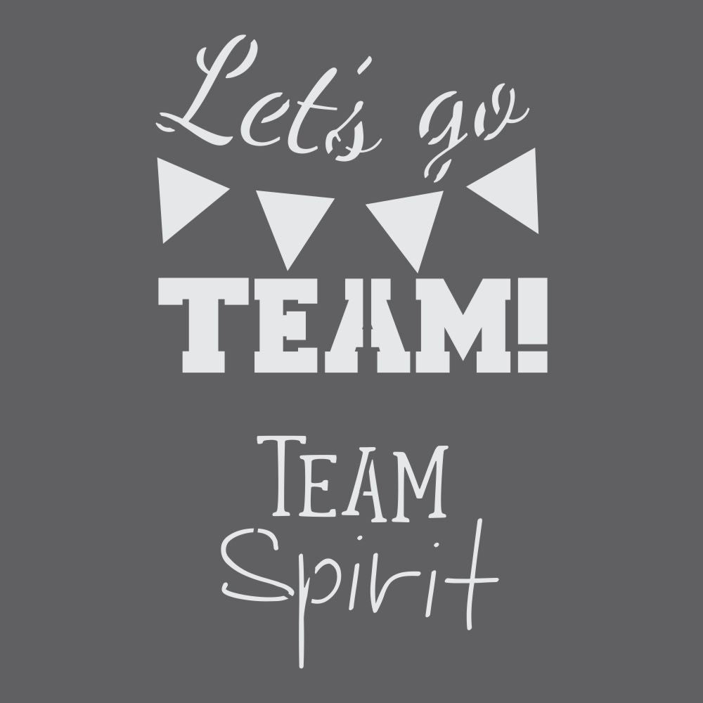 Team Spirit Craft Stencil