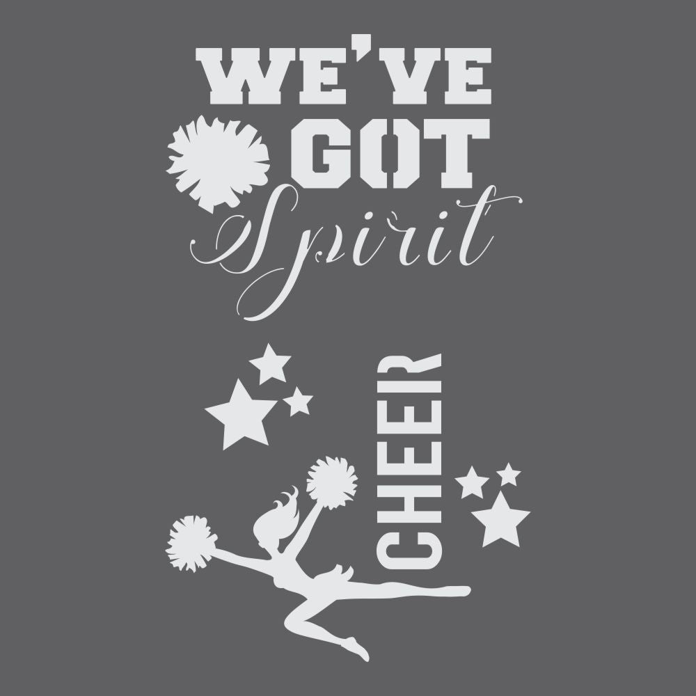 Cheerleader Craft Stencil by Crafty Stencils