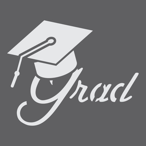 Grad Craft Stencil by Crafty Stencils