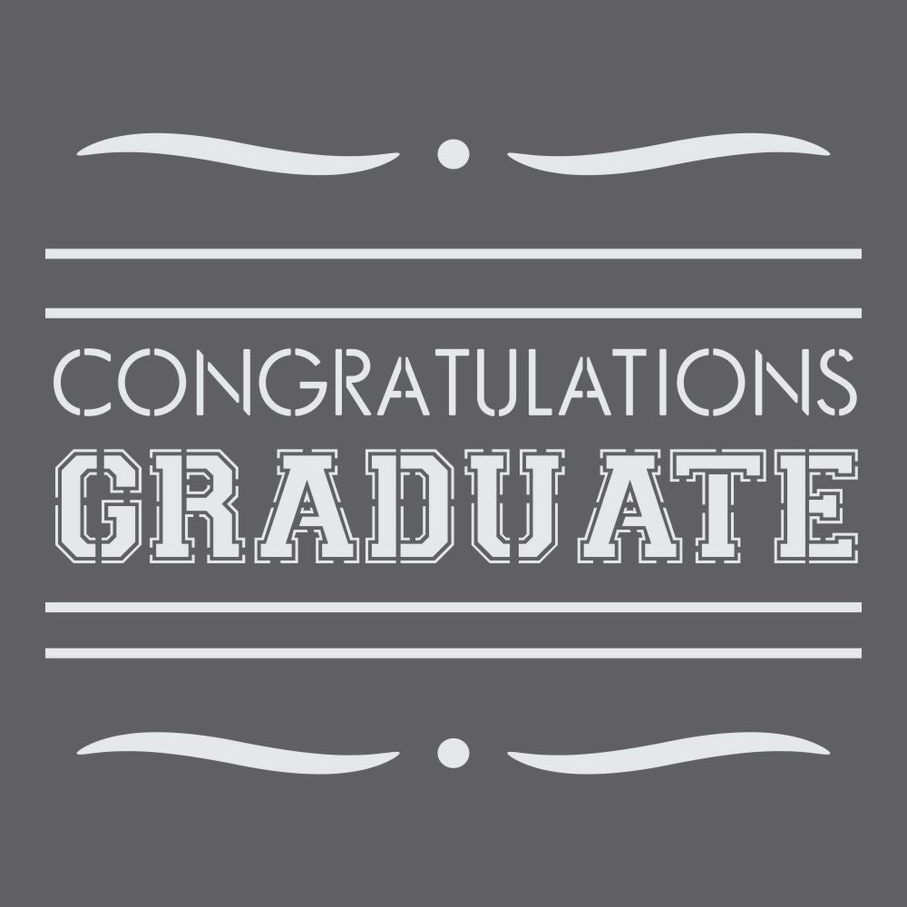 Congratulations Graduate Craft Stencil