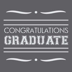 Congratulations Graduate Craft Stencil by Crafty Stencils