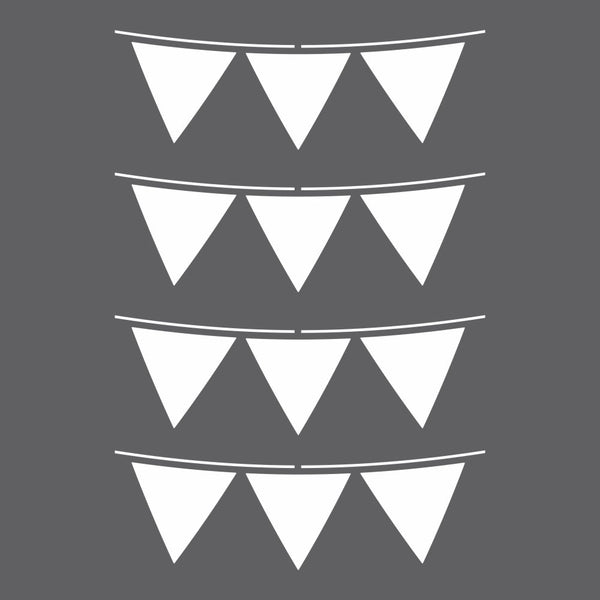 Party Flags Craft Stencil