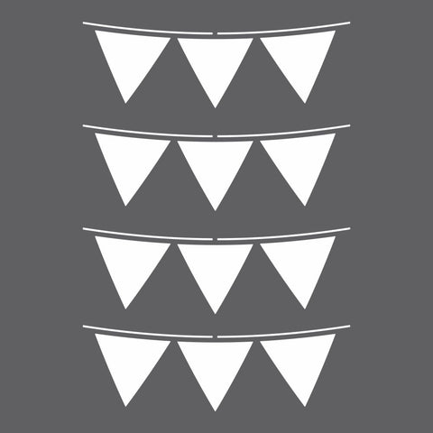 Party Flags Craft Stencil by Crafty Stencils