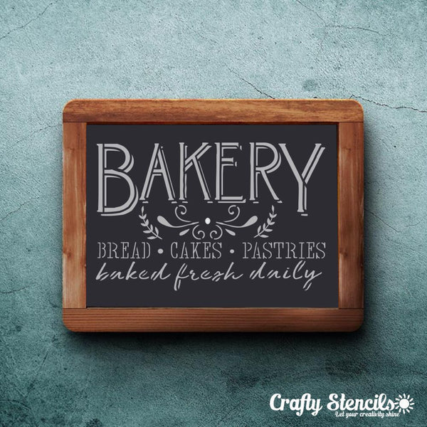 Bakery Sign Craft Stencil