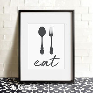 Eat! Craft Stencil by Crafty Stencils