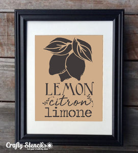 Lemon Botanical Craft Stencil By Crafty Stencils