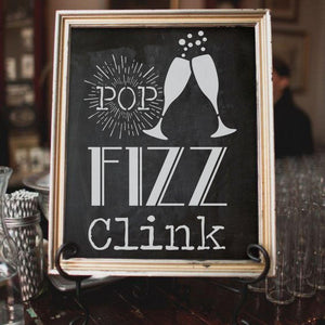 Pop Fizz Clink Craft Stencil