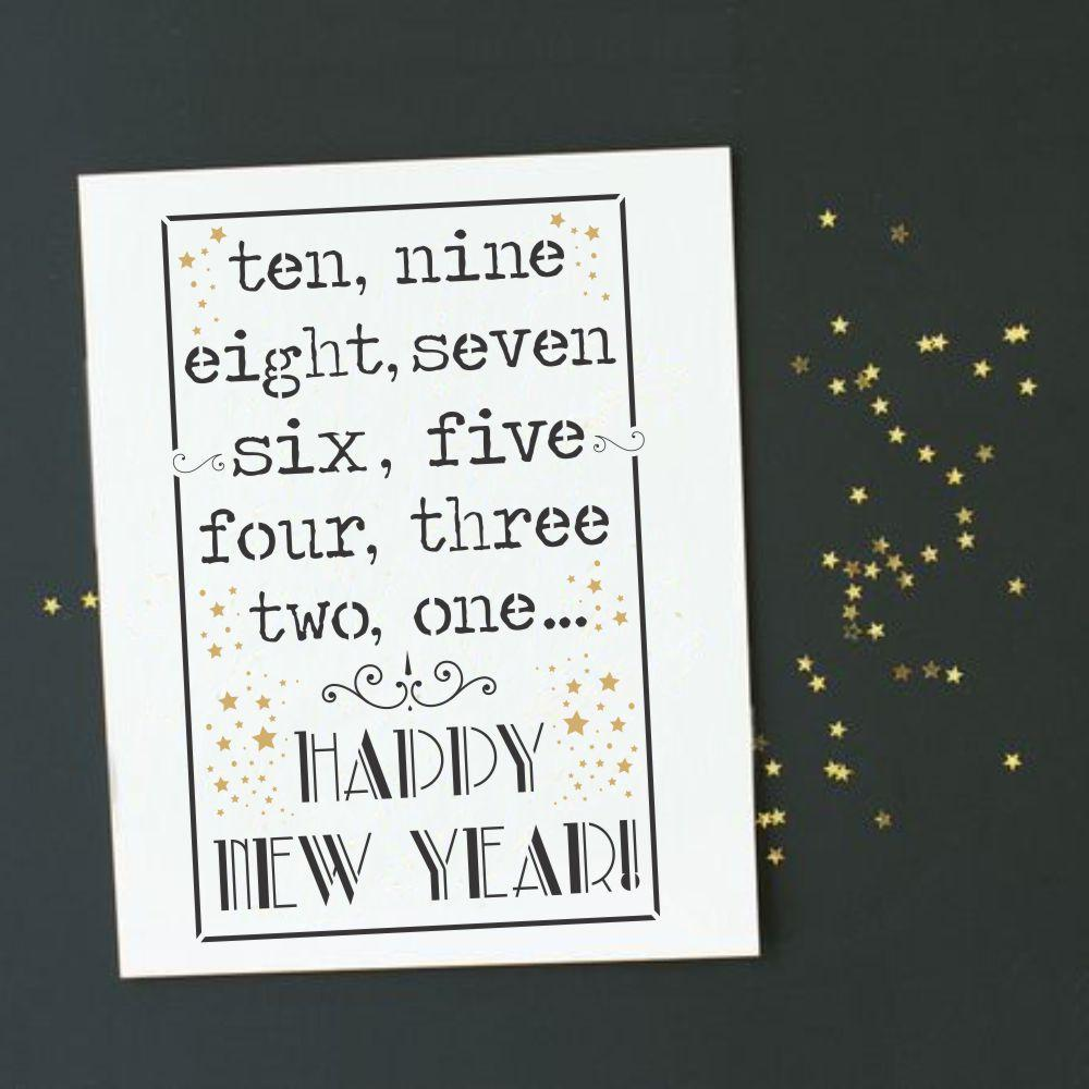 New Years Countdown Craft Stencil