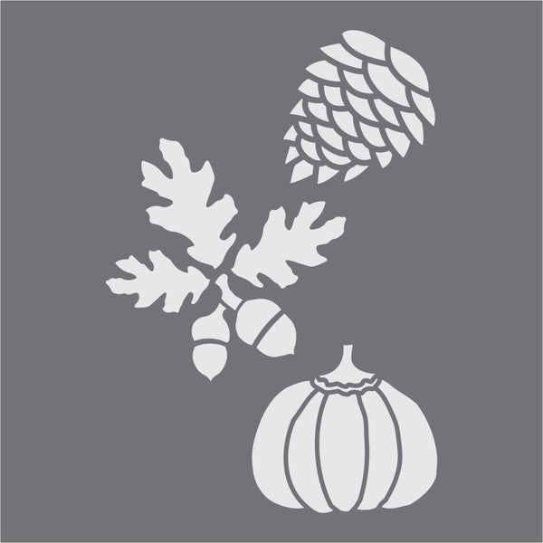 Autumn Elements Craft Stencil