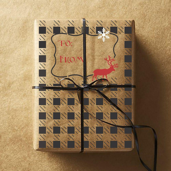 Buffalo Plaid Gift Wrap Stencil Set