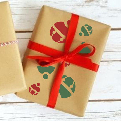 Christmas Presents Gift Wrap Stencil Set