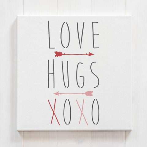 Love and Hugs Valentines Craft Stencil