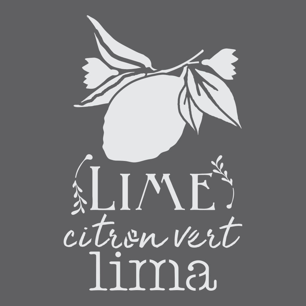 Lime Botanical Craft Stencil