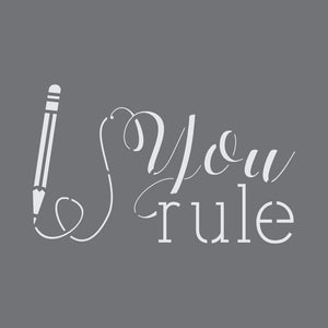 You Rule Craft Stencil