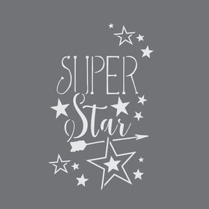 Super Star Craft Stencil