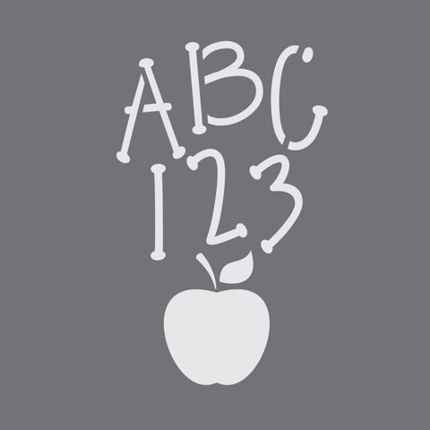 ABC and 123 Craft Stencil