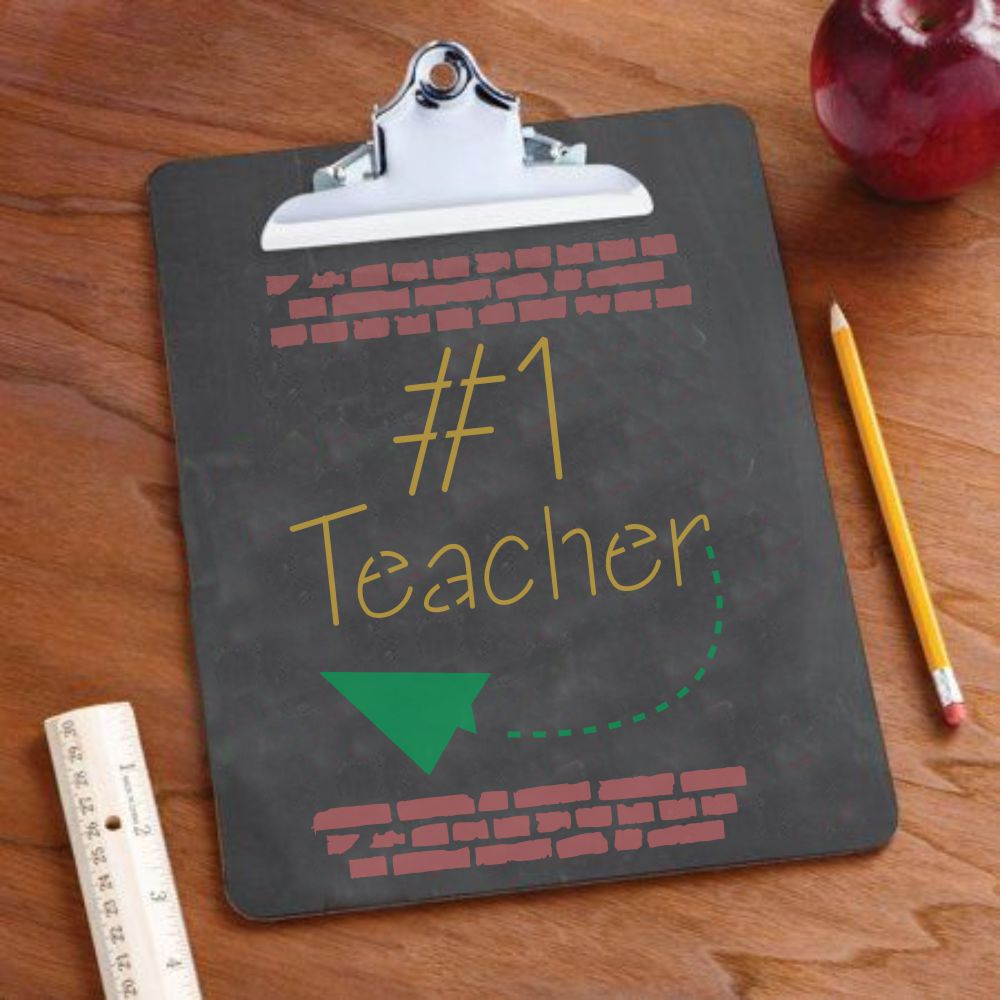 Number One Teacher Craft Stencil