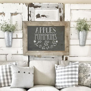 Apples and Pumpkins Craft Stencil