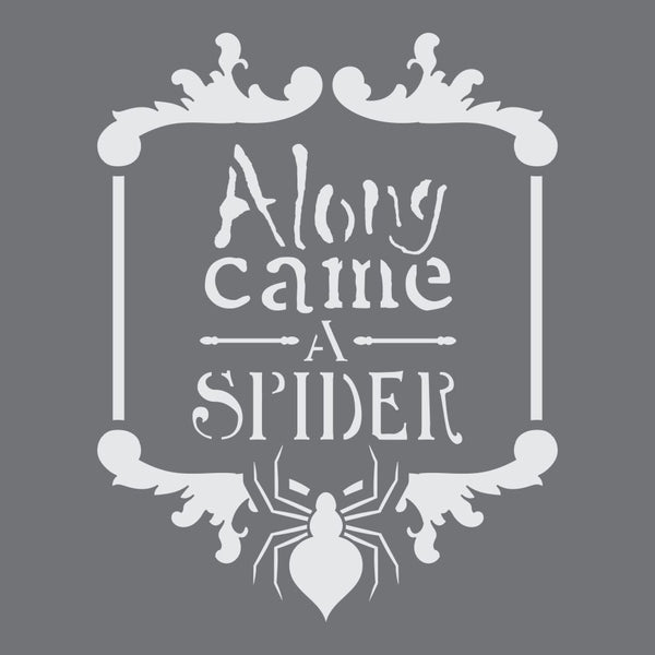 Along Came A Spider Craft Stencil