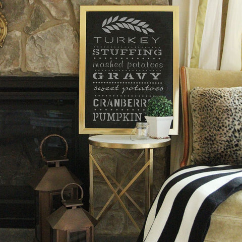 Thanksgiving Dinner Craft Stencil