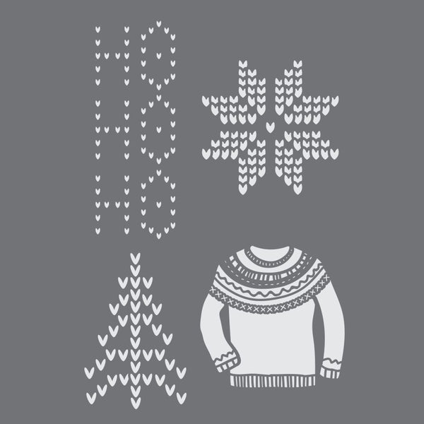 Scandinavian Christmas Craft Stencil