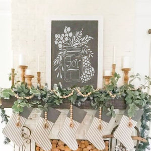 Holiday Mason Jar Craft Stencil