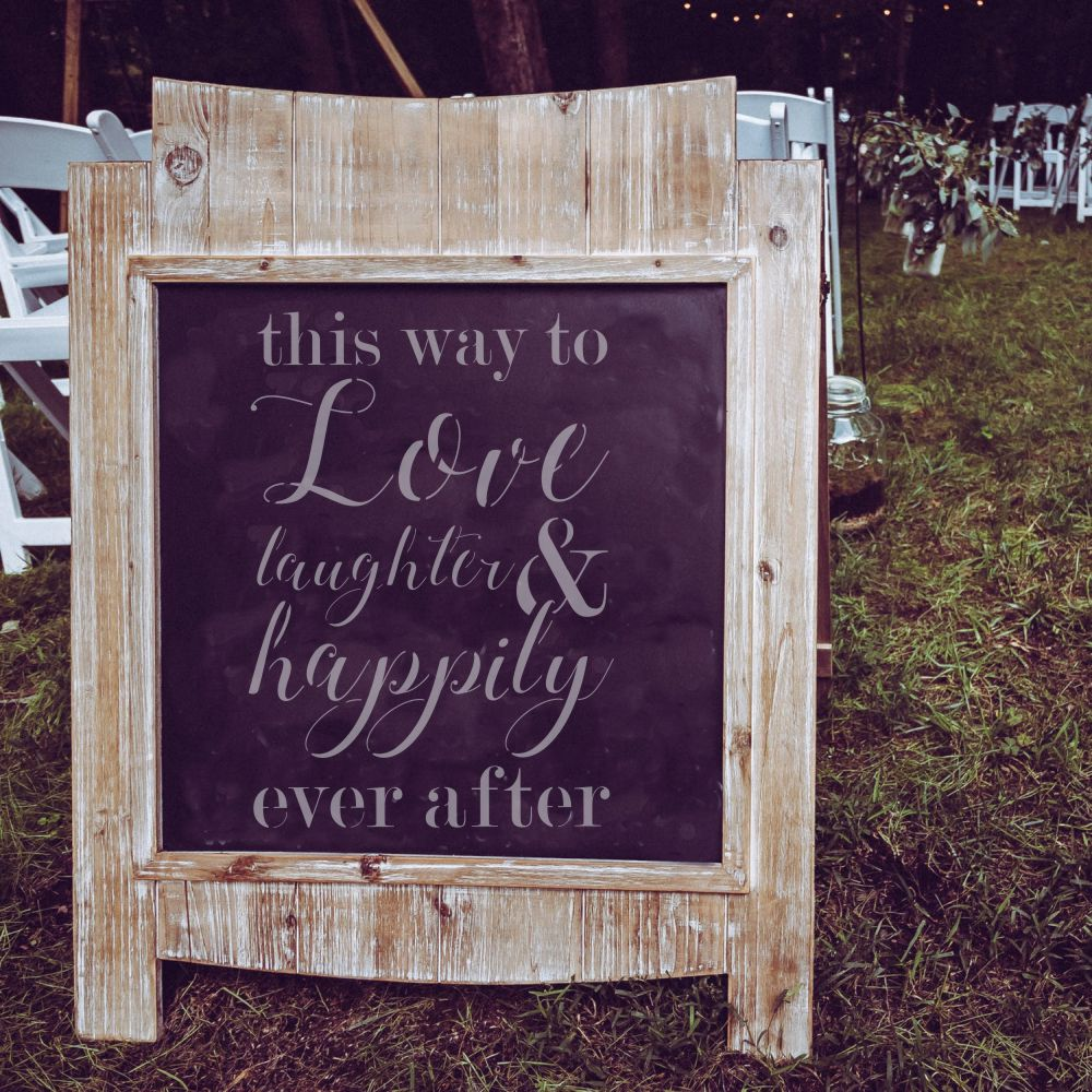 This Way to Love Wedding Sign Stencil