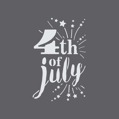 4th of July Craft Stencil