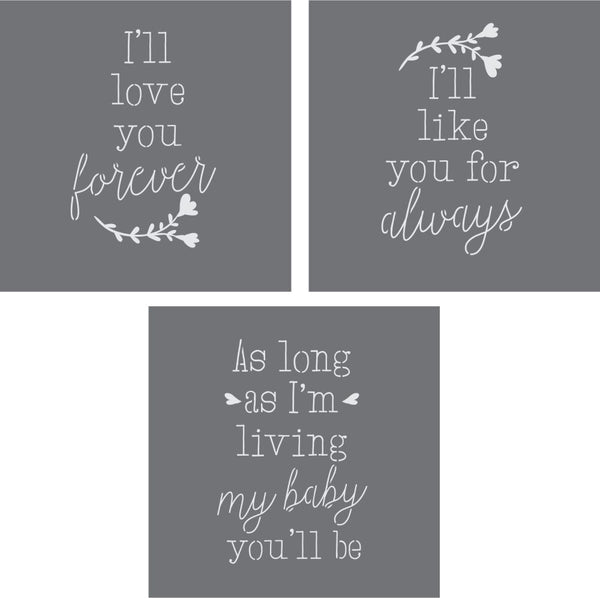 My Baby You'll Be 3 Piece Stencil Set