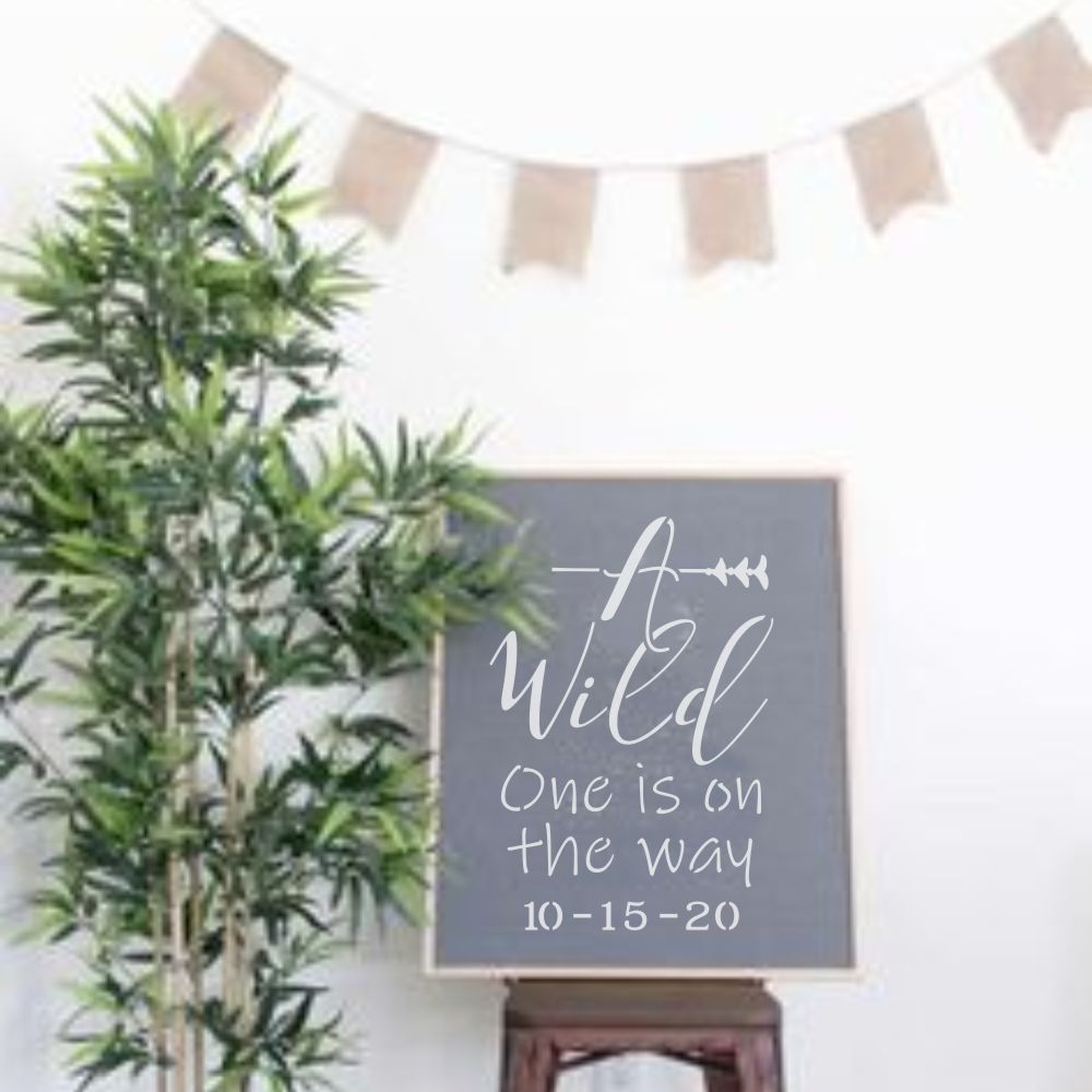 Wild One 2 Piece Craft Stencil