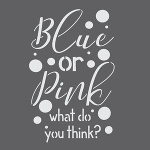 Blue or Pink Gender Reveal Craft Stencil