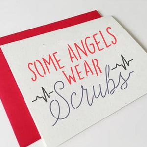 Some Angels Wear Scrubs Sign Stencil