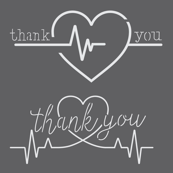 Thank You Medical Professionals 2 Piece Stencil Set