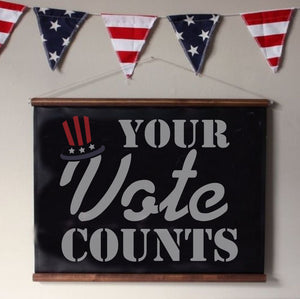 Your Vote Counts Voting Craft Stencil