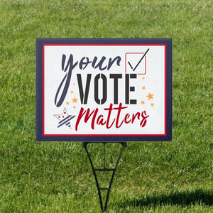 Your Vote Matters Voting Craft Stencil
