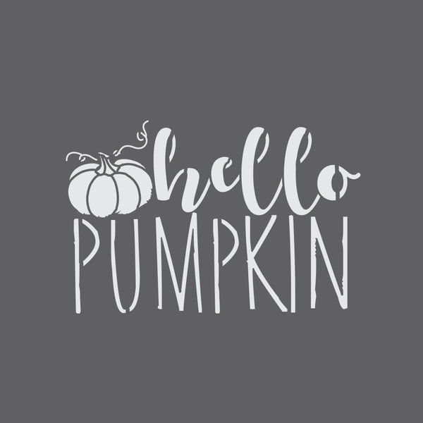 Hello Pumpkin Halloween Craft Stencil