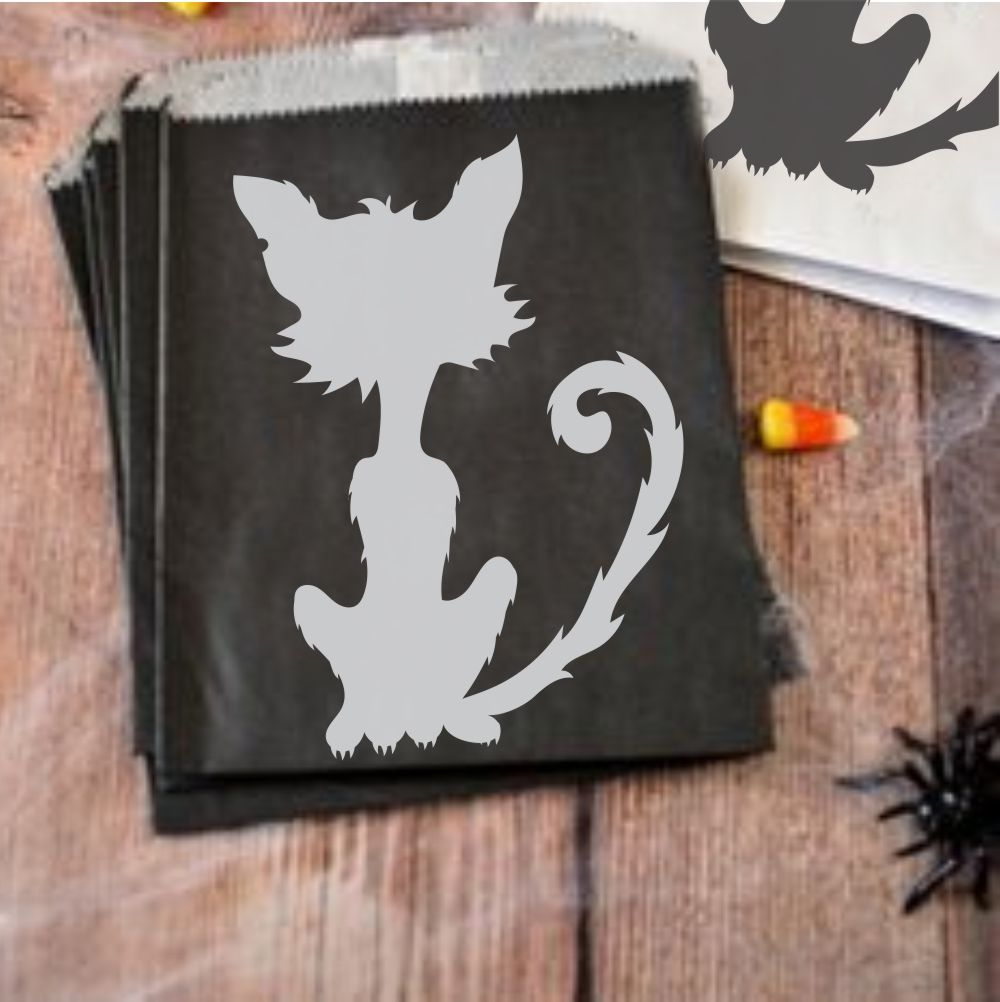 Black Cats Halloween Craft Stencil