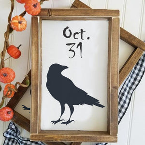 Ravens Halloween Craft Stencil