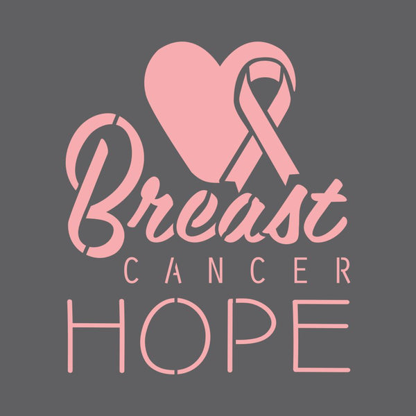Breast Cancer Hope Craft Stencil