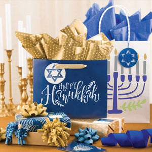 Hanukkah Menorah Craft Stencil